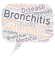 asthmatic bronchitis text background wordcloud vector image vector image