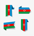 azerbaijani flag stickers and labels vector image