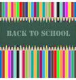 back to school chalkboard vector image vector image