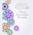background with arabic colorful pattern vector image vector image