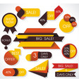 big sale labels and banners paper discounts with vector image vector image