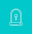 bike u-lock linear icon vector image