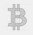 bitcoin sign sketch vector image