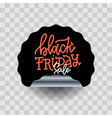 black friday sale round curve sticker vector image