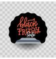 black friday sale round curve sticker vector image vector image