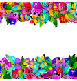 border with colorful butterflies vector image vector image