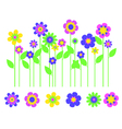 bright flower border vector image vector image