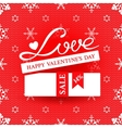 Bright promotional banner for Valentines day vector image vector image
