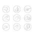business hand gestures contour icon vector image vector image
