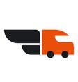car delivery logo vector image