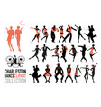 charleston dance clipart collection set jazz vector image vector image