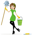 Cleaning woman vector | Price: 1 Credit (USD $1)