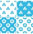 Clover patterns set vector image vector image