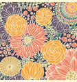 colorful pattern with stylized flowers hand vector image vector image