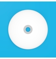 compact disk empty mockup vector image