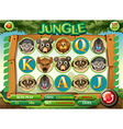 Computer game template with jungle theme vector image vector image
