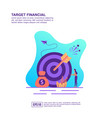 concept target financial modern conceptual for vector image