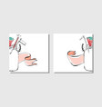 cooking cardsnotesstickerslabels tags with vector image vector image