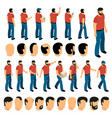 creation set of man characters vector image vector image