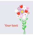 cute bouquet flowers vector image vector image