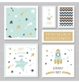 Cute cards with gold confetti glitter for kids vector image vector image