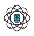 data science atom around of server icon colorful vector image vector image