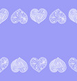 decorative horizontal border from doodle hearts vector image vector image