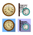 design of clock and time logo set of clock vector image