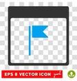 Flag Calendar Page Eps Icon vector image vector image
