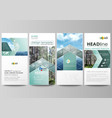flyers set modern banners cover design template vector image vector image