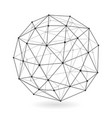 geometric low polygonal sphere abstract design vector image vector image