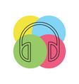 headphones icon - sound music vector image
