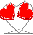 Hearts on a rack vector image vector image