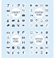 Internet Business Office and Shopping Icons Set vector image vector image