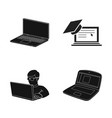 isolated object of pc and screen symbol vector image