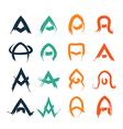 letter A design set vector image vector image
