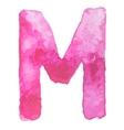 Letter M Colorful watercolor aquarelle font type