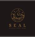 lineart sea seal fur seal logo icon vector image vector image