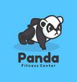 logo panda mascot cartoon style vector image vector image