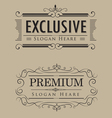 luxury logos template vintage calligraphy elegant vector image vector image