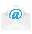 mail envelope with shadow on a white background vector image vector image