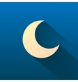 Moon isolated on dark background vector image