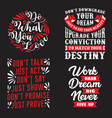 motivational quote and saying set good for print vector image vector image
