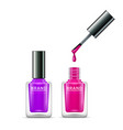 nail polish isolated glass bottle colors vector image vector image
