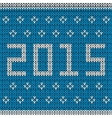 New year knitted background vector image