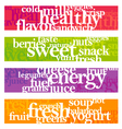 nutrition words banner set vector image