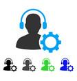 operator configuration gear flat icon vector image