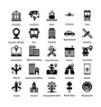 pack of maps and navigation glyph icons 1 vector image vector image