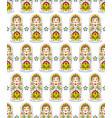 pattern with russian dolls matryoshkas vector image vector image
