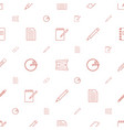 pencil icons pattern seamless white background vector image vector image